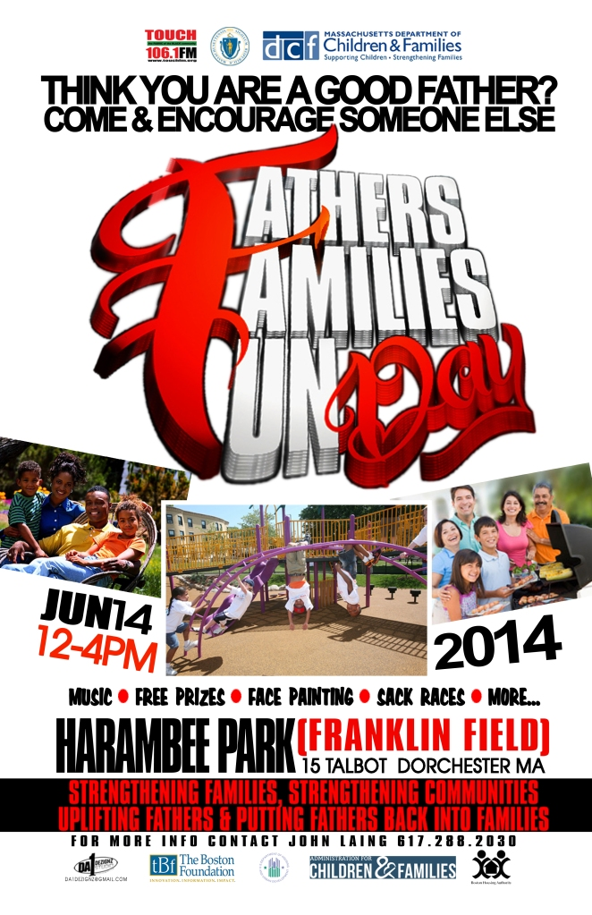 Family Fathers Fun Day Poster